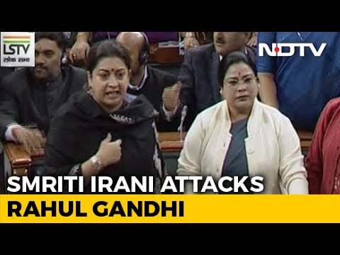 'Rahul Gandhi Should Be Punished', Says Smriti Irani Over 'Rape In India' Remark