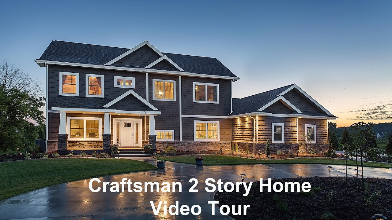 Depere craftsman 2 story by dickinson homes youtube for Home depot tiny house 2 story