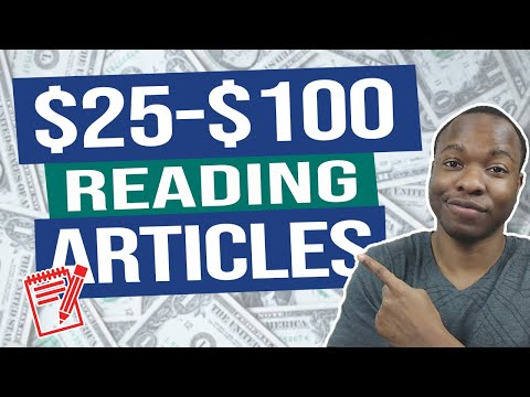 Get PAID To Read $25-$100 PER ARTICLE (Make Money Online Reading Books & News)