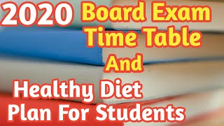 Score 90% Guaranteed | Best Time Table and Healthy Diet Plan For Students.