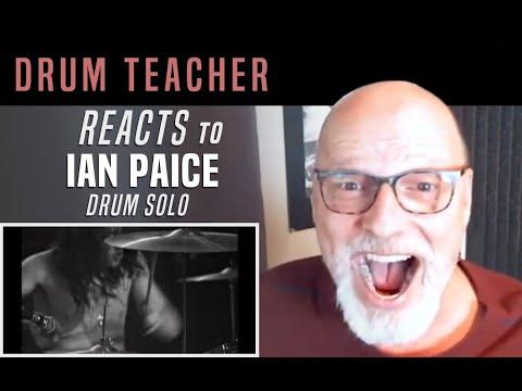 Drum Teacher Reacts to Ian Paice - Drum Solo