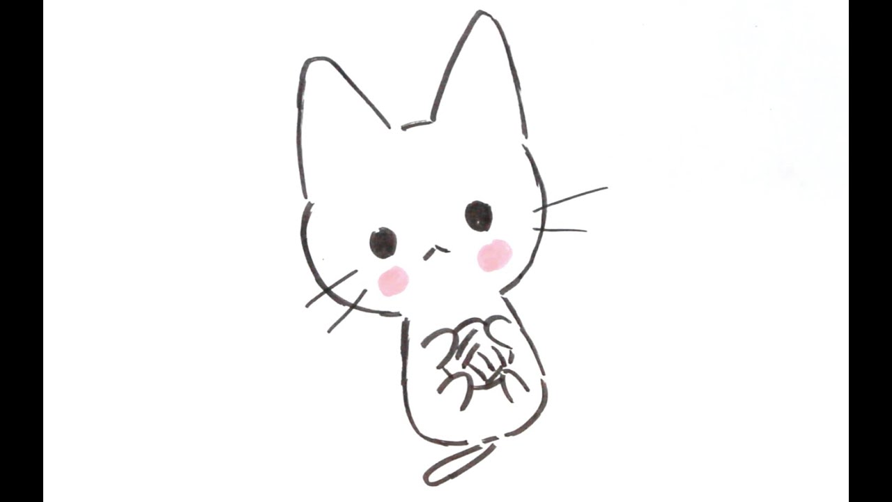Dessiner un chat facilement 5 dessiner un chat kawaii avec une pelote de laine dessin - Un chat a colorier ...