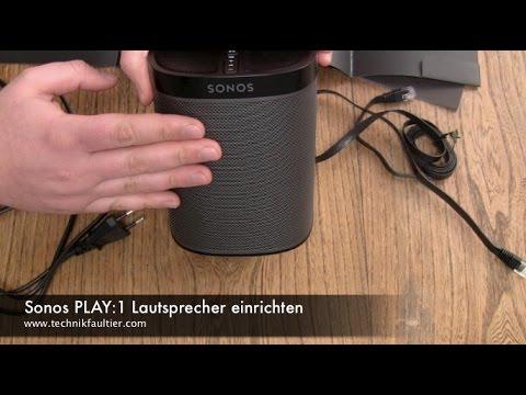 Sonos PLAY:1 Lautsprecher einrichten und mit Musik verbinden