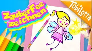 Fee zeichnen lernen Kinder - Filme Kinderkanal Kindervideo Bastelkanal  Mamiblog tobilotta160