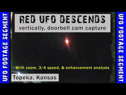 UFO SIGHTING VIDEO • Red Object Descends Vertically • Topeka, Kansas, USA