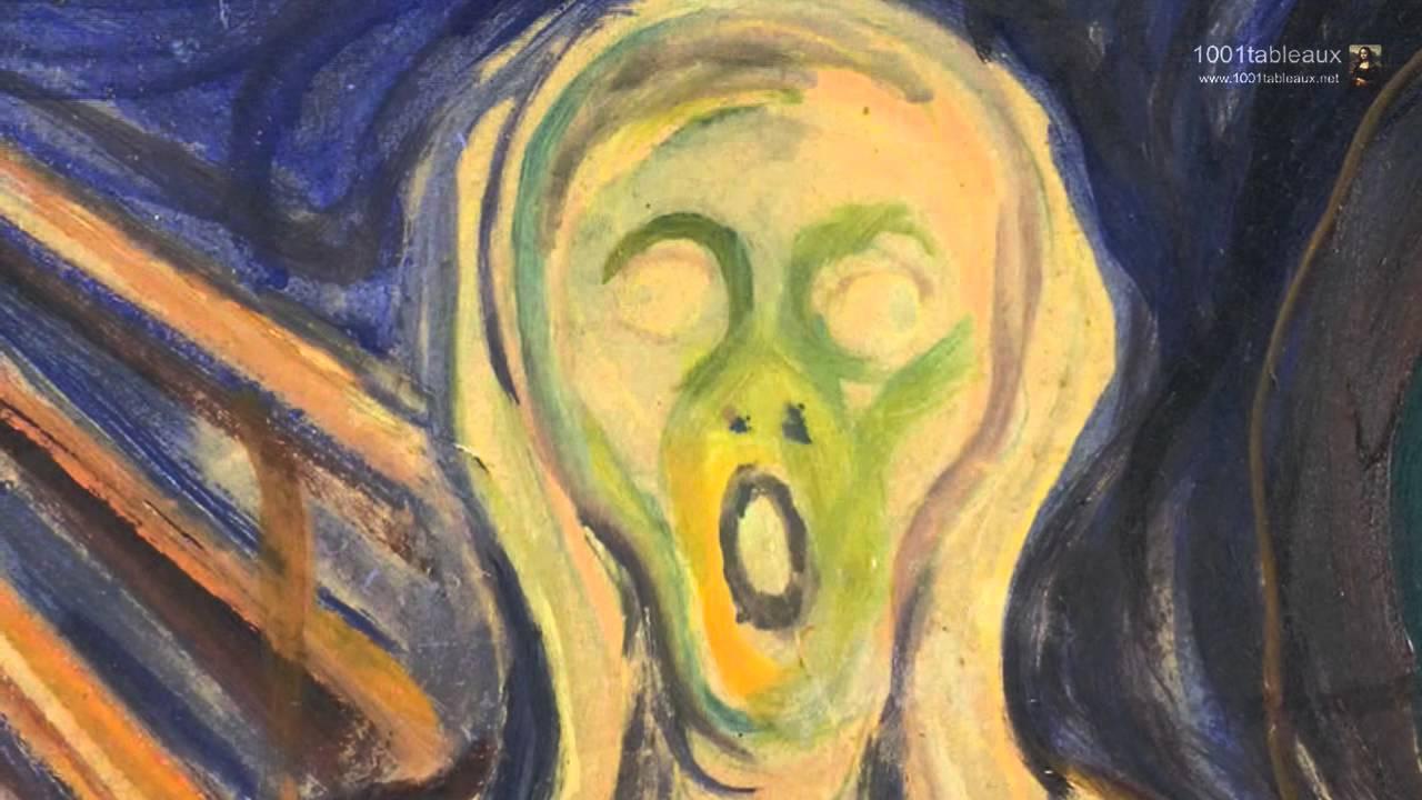 Le cri par le peintre norvégien Edvard Munch - YouTube