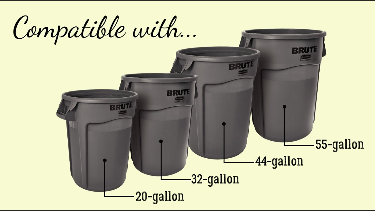 Rubbermaid Round Plastic Trash Can Dolly