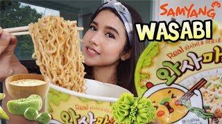 Samyang Wasabi Pedasnya Sampe Kepala?!! Samyang Terbaru : Wasamayo | Mukbang Eat