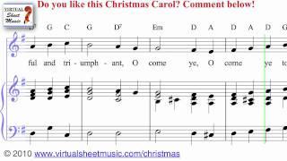 O Come All Ye Faithful Sheet Music and Carol - Christmas Sheet Music Video Score