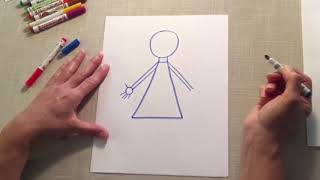 Drawing with Lisa Sadler: Let's draw a person (Déssinons une personne)