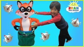 Catch the Fox Family Fun Board Games for kids and Eggs Surprise Toys for winner!
