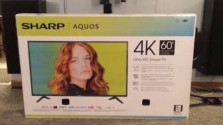 SHARP 60'' 4K SMART TV LC-60P6070U UNBOXING