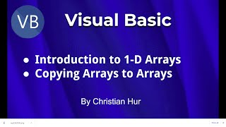 Programmeren in Visual Basic - Intro van Één-Dimensionale Arrays (1D), Kopie Matrices Matrices
