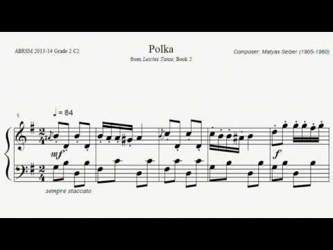 ABRSM Piano 20132014 Grade 2 C:2 C2 Seiber Polka from Easy Dances Book 2 Sheet Music