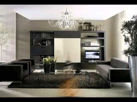 Black furniture living room design decor ideas - YouTube