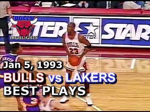 January 05 1993 Bulls vs Lakers highlights