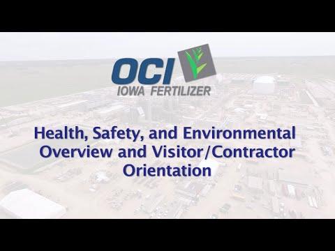 Iowa Fertilizer Safety Training - Health, Safety, and Evironmental