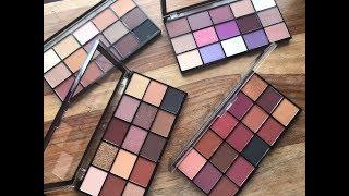 New Revolution Re-Loaded Palettes / Basic Mattes, Visionary, Newtrals 3 &  Velvet Rose
