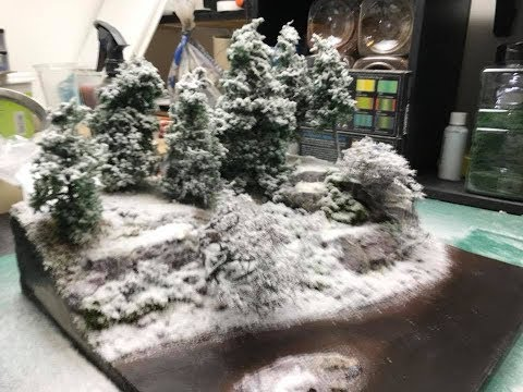 How To Use Realistic Snow Effects Part 5 diorama build
