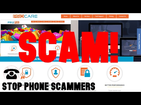 """""""ProFix"""", """"Pro-Care"""" Tech Support Scam 