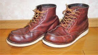 RED WING っぽいワークブーツにミンクオイルを塗る。定期メンテナンス