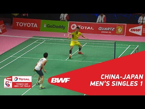 Thomas Cup Final | MS1 | CHEN Long (CHN) vs Kento MOMOTA (JPN) | BWF 2018