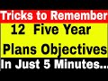 ALL 12 Five Year Plans Objectives | GK Tricks | Indian Economy Book Tricks for Ias | upsc | ssc