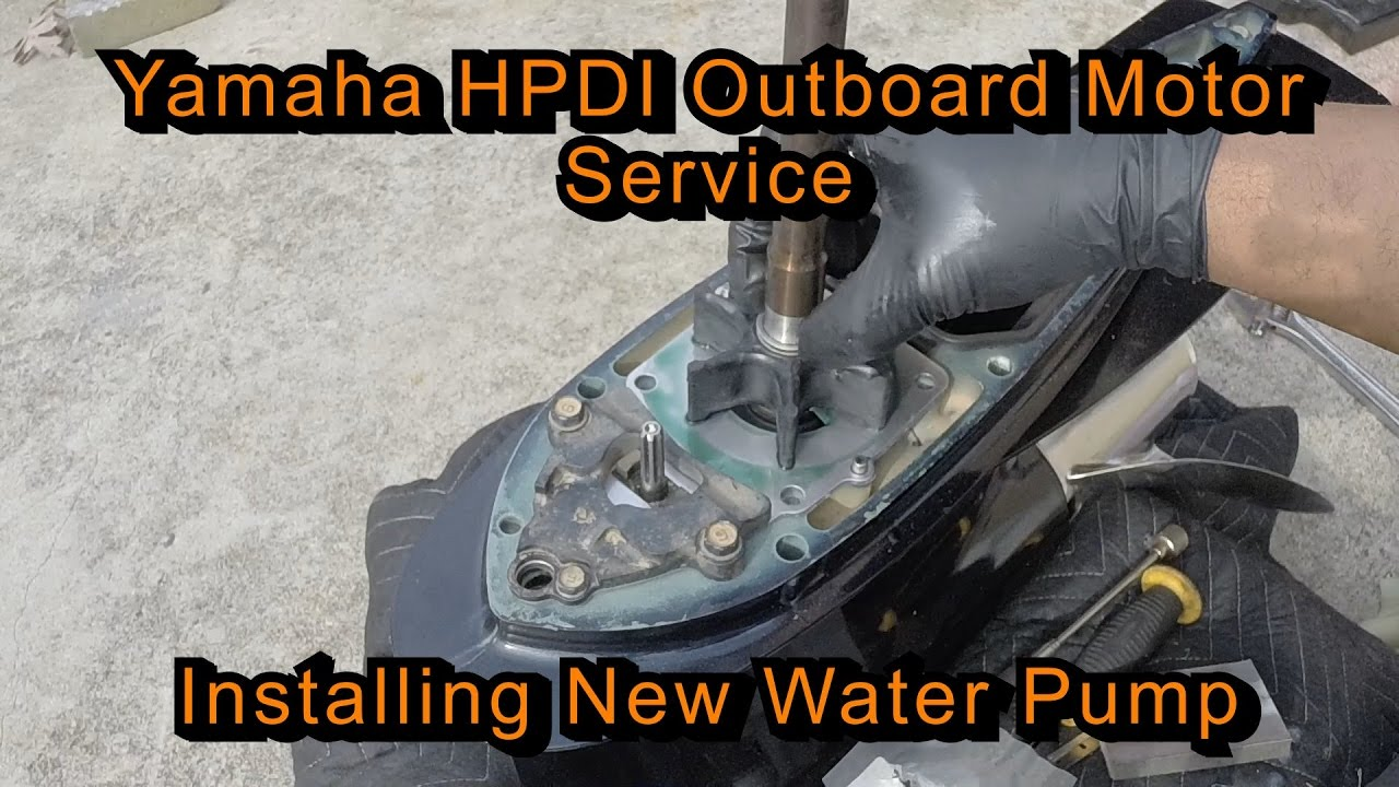 Yamaha Hpdi Outboard Motor Service  Installing New Water Pump