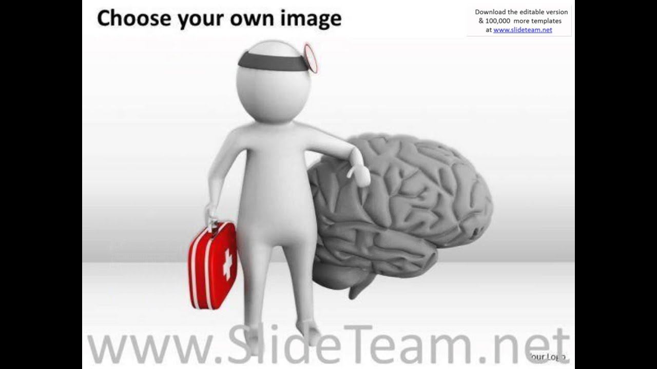 Top business people 3d man doctor with blue brain powerpoint top business people 3d man doctor with blue brain powerpoint templates presentation infographics sli alramifo Choice Image