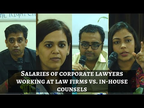 Salaries Of Corporate Lawyers Working At Law Firms Vs  In House Counsels