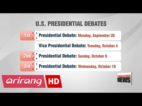 U.S. gears up for first presidential debate of 2016 election