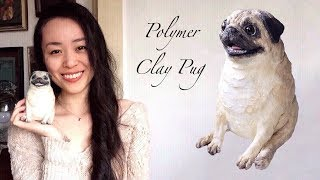 Sculpting A Polymer Clay Pug (Time-lapse)
