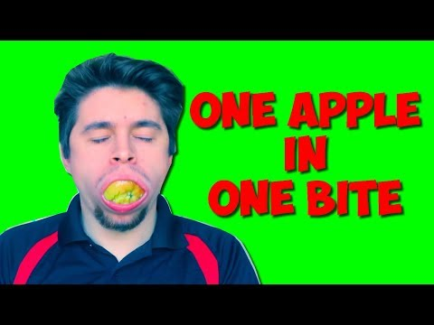 Eating A Whole Apple In One Bite