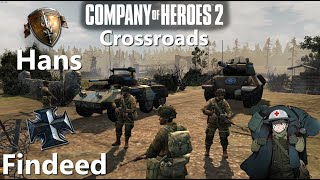 Company of Heroes 2: Hans(US) vs Findeed(OKW) Crossroads