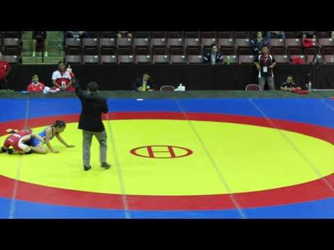 2014 Junior Pan-American Championships: 44 kg Augusta Eve (CAN) vs. Angela Toribio (PER)