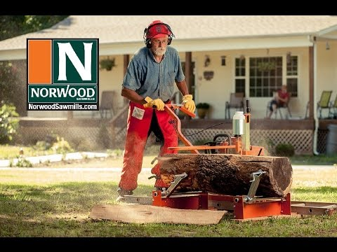Saw Mill For Sale >> The Ultimate Chainsaw Sawmill - The PortaMill PM14 by Norwood Portable Sawmills - YouTube