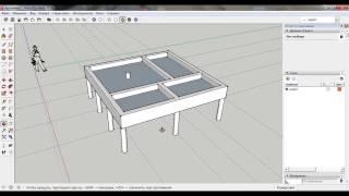 Фундамент своими руками для бани из бруса 6x6. 3-D проект в SketchUp. Свайно-ростверковый