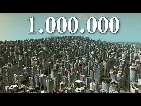 Cities Skylines - 1 Million Population ( LIMIT ) | Super MASSIVE City