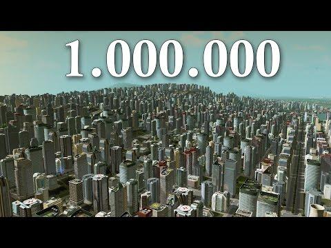 Cities Skylines - 1 Million Population ( LIMIT ) | Super MASSIVE City