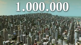 Cities Skylines - 1 Million Population ( LIMIT )   Super MASSIVE City