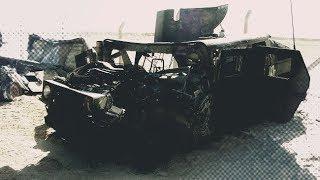 Противотанковый комплекс AndquotФаготandquot превратил Humvee в пылающий факел