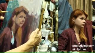 Портрет на 3 сеанса. (1) - Обучение живописи. Портрет, 31 серия