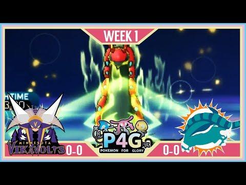 SAVAGE!! | Minnesota Vikavolts VS Miami Donphan P4G S2 W1  | Pokemon Sun Moon