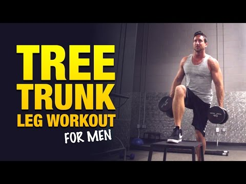"Men Leg Workout Routine – ""The Big Tree Trunk Leg Workout"