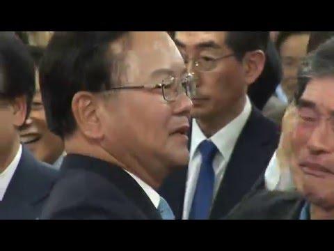 출구조사 직후 김부겸 캠프, 새누리당 대구시당