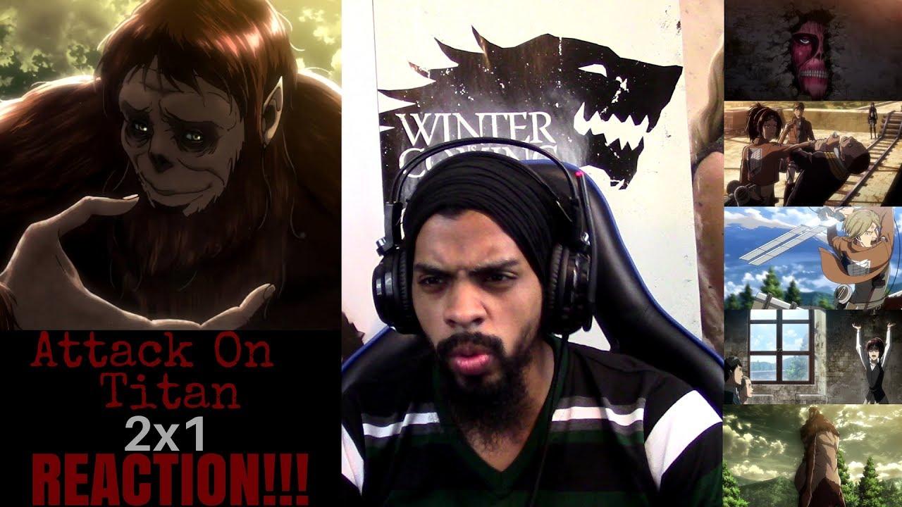 "Attack on Titan 2x1 REACTION/REVIEW!!!! ""Beast Titan ..."