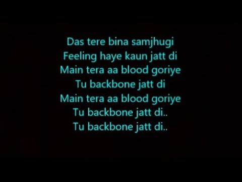 backbone lyrics music