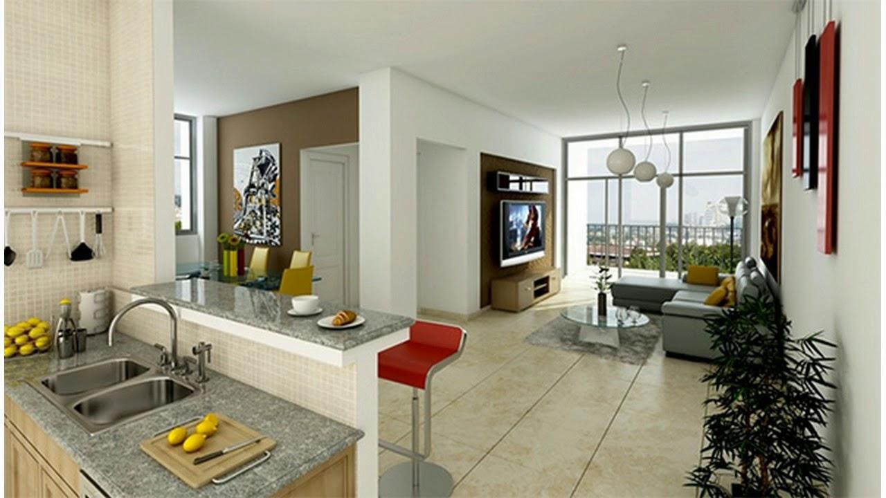 Diseño De Sala Comedor Y Cocina En Un Solo Ambiente