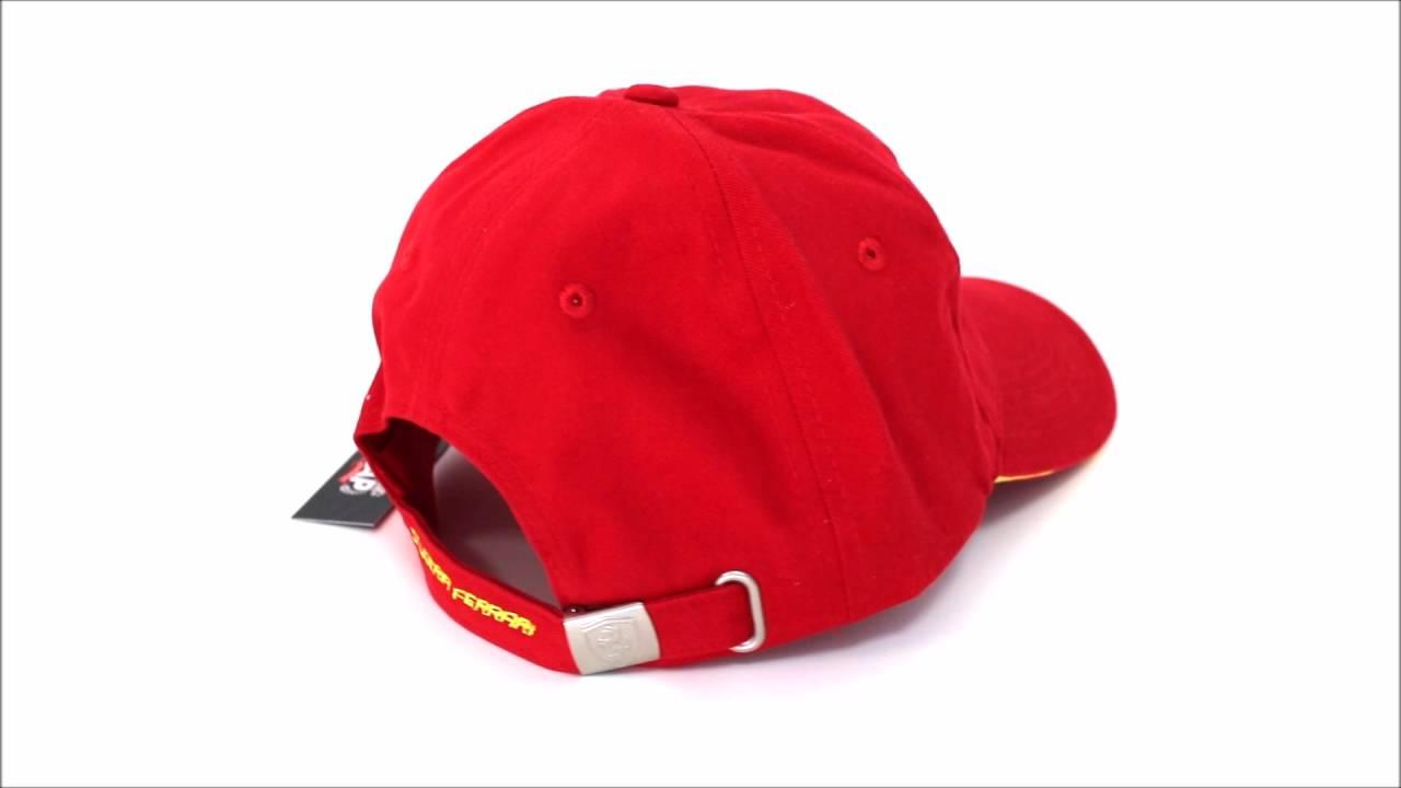 Gorra Scuderia Ferrari Oficial Clásica Roja - YouTube 34d343d1269