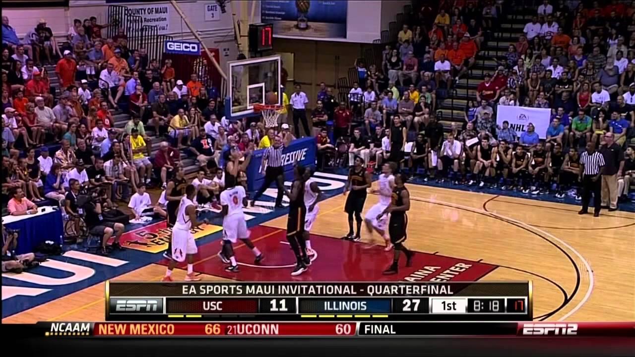 Illinois vs USC Maui Invite Highlights 11/19/12